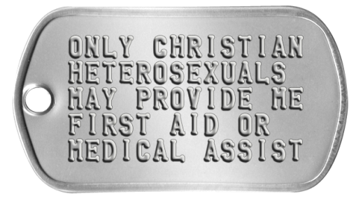 Only Heterosexual Christians May Provide Medical Assistance